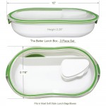 The Better Lunch Box - 3pc Set Dimensions